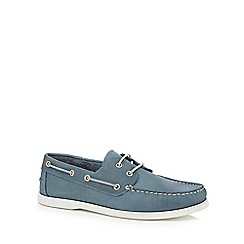 Hammond & Co. by Patrick Grant - Blue  Yale  lace-up boat shoes
