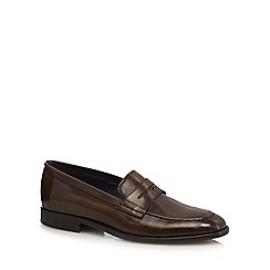 Hammond & Co. by Patrick Grant - Brown patent leather 'Sierra' loafers