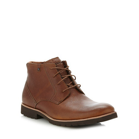 Rockport - Tan leather chunky boots
