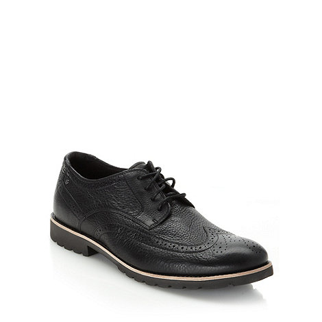 Rockport - Black wing cap leather brogues