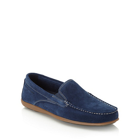 Rockport - Navy suede stitched front moccasins