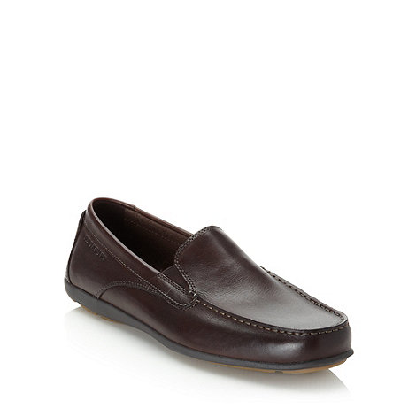 Rockport - Dark brown leather loafers
