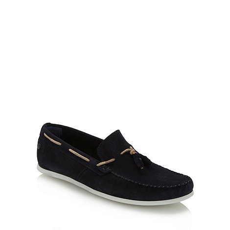 Base London - Navy suede moccasins