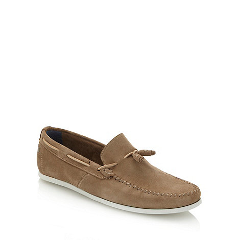 Base London - Beige suede moccasins