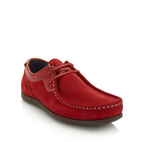 Base London - Red suede lace up shoes