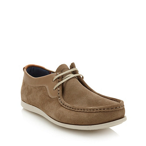 Base London - Beige suede lace up shoes
