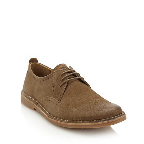 Base London - Taupe worn suede lace up shoes