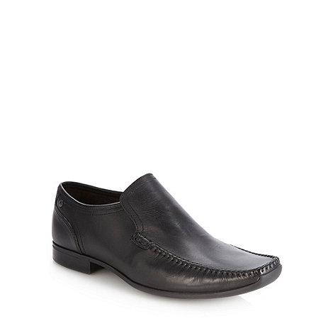 Base London - Black square toe apron front shoes