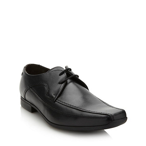 Base London - Black coated leather lace up shoes