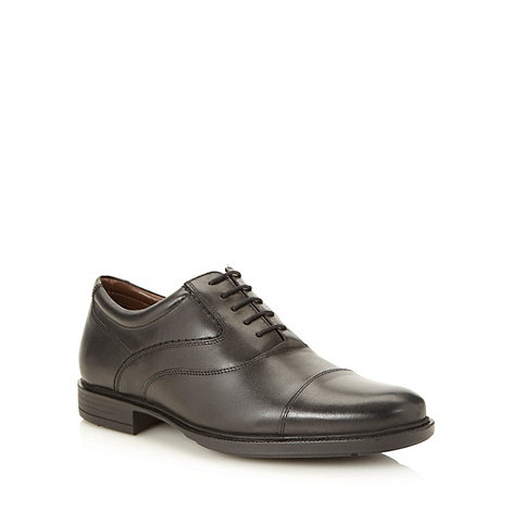 Hush Puppies - Wide fit black leather pointed lace up shoes