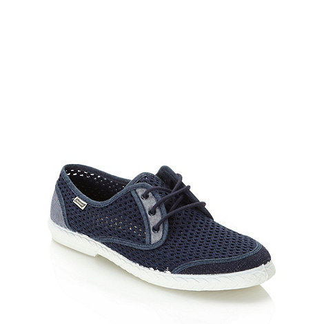 Maians - Navy meshed lace up plimsoles
