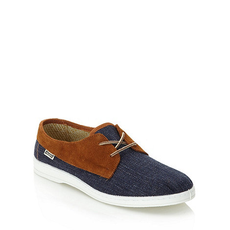 Maians - Navy suede panelled plimsoles