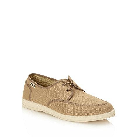 Maians - Beige canvas soft lace up shoes