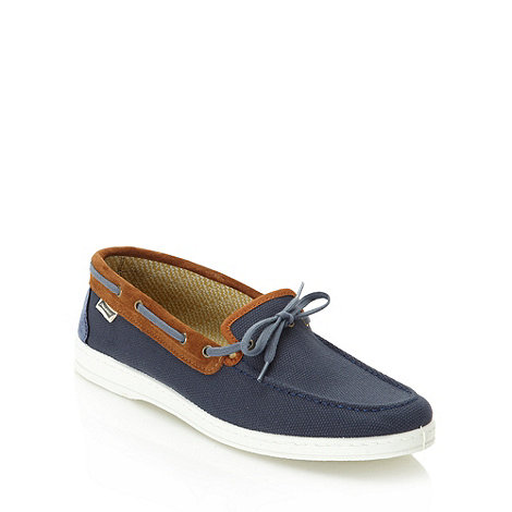 Maians - Navy suede trimmed boat shoes