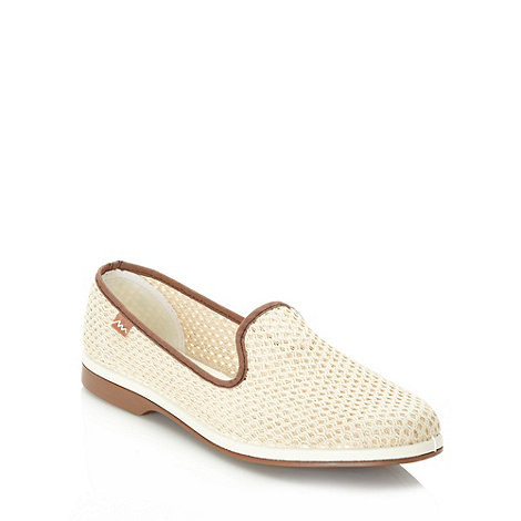 Maians - Cream net slip on shoes