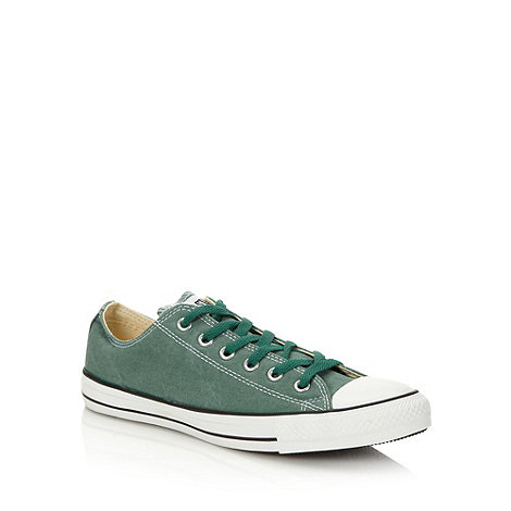 Converse - Green canvas +All Star+ low top trainers