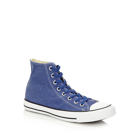 Converse - Blue canvas +All Star+ hi-top trainers