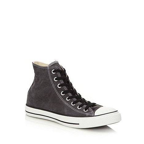 Converse - Grey canvas hi-top +All Star+ trainers