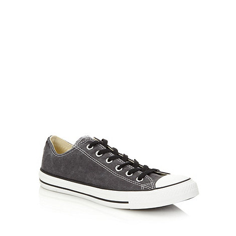 Converse - Grey canvas low top +All Star+ trainers
