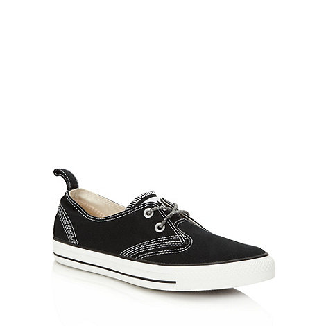 Converse - Black canvas +All Star+ two eyelet trainers