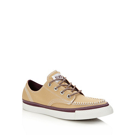 Converse - Natural canvas +All Star+ apron front trainers