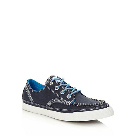 Converse - Navy canvas +All Star+ apron front trainers