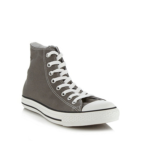 Converse - Grey +All Star+ hi-top trainers