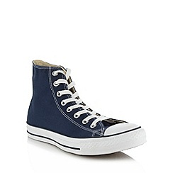 Converse - Navy canvas hi-top trainers