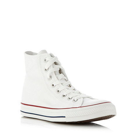 Converse - White +All Star+ hi-top trainers