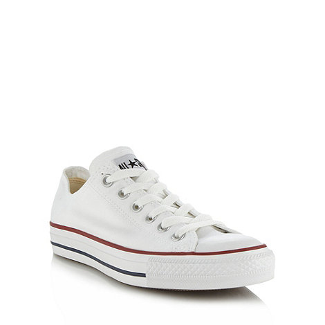 Converse - White essential canvas trainers