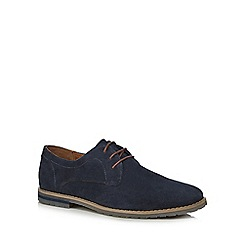 Red Herring - Navy suede 'Dan' Derby shoes
