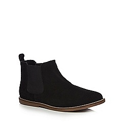 Red Herring - Black suede 'Elevated' Chelsea boots