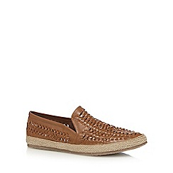 Red Herring - Tan woven espadrilles