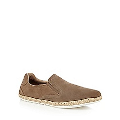 Red Herring - Taupe suede 'Racer' espadrille shoes