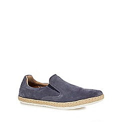 Red Herring - Dark grey suede 'Racer' espadrille shoes
