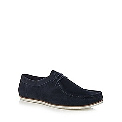 Red Herring - Navy suede lace up shoes