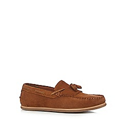 Red Herring - Tan suede tasselled loafers