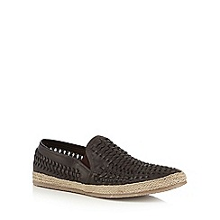 Red Herring - Brown 'Morley' espadrilles