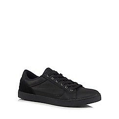 Red Herring - Black leather trainers