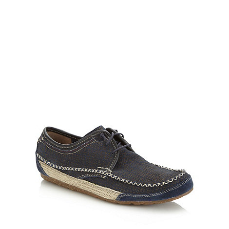 Hush Puppies - Navy dotted suede shoes