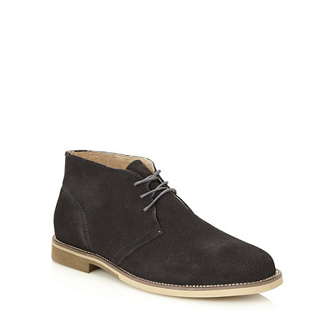 Hush Puppies - Navy suede +Hip+ chukka boots