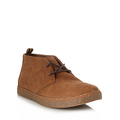 Hush Puppies - Tan grain leather ankle boots