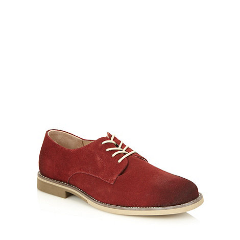 Hush Puppies - Red suede lace up shoes