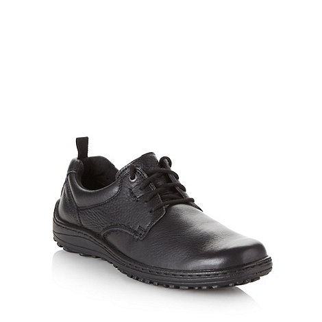Hush Puppies - Black padded leather lace up shoes