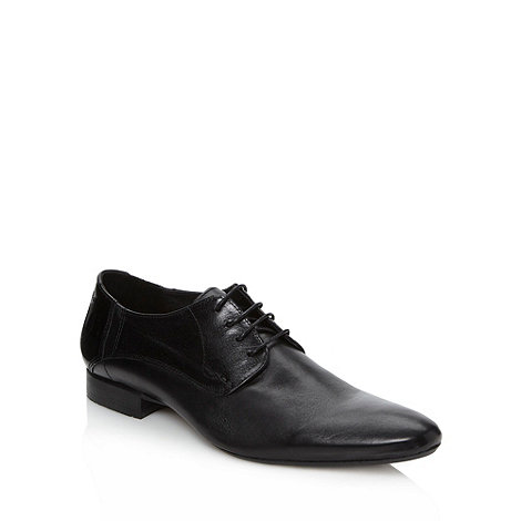 H By Hudson - Black leather patent panel shoes