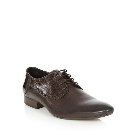 H By Hudson - Brown mixed leather shoes