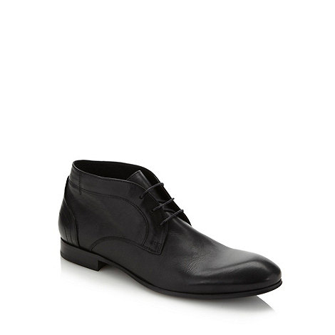 H By Hudson - Black soft leather lace up shoes