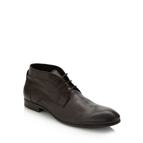 H By Hudson - Brown soft leather lace up shoes