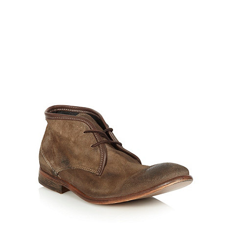 H By Hudson - Taupe washed suede chukka boots