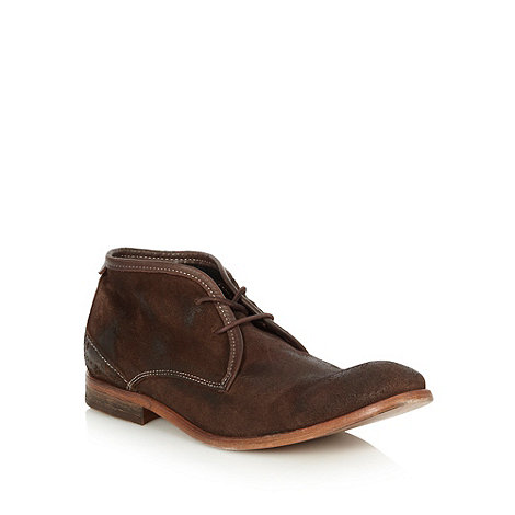 H By Hudson - Brown suede chukka boots
